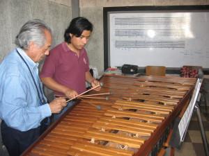 Clases de marimba en el Conservatorio Nacional de Música