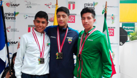 El atleta de 17 años José Ortiz fue el ganador de la medalla de plata para Guatemala.  (Foto: COGuatemalteco)