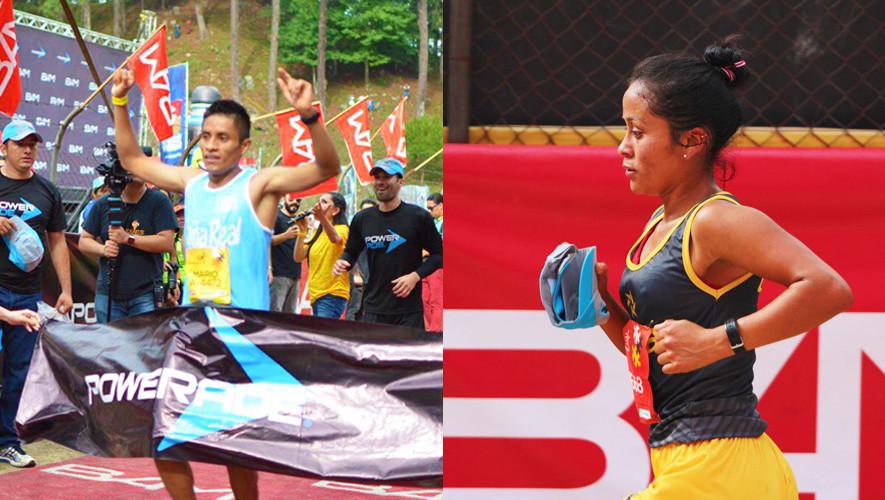Pacay y Raxón consiguieron la mejor actuación para los atletas guatemaltecos, al ser sexto y quinto lugar de su categoría, respectivamente. (Foto: Media Maratón Int. de Cobán)