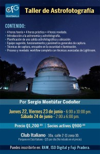 Taller de astrofotografía