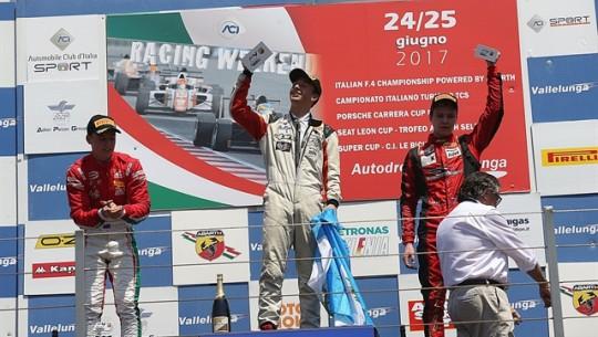Ian se quedó con la primera posición en el evento de Vallelunga. (Foto: F4 Italian Championship)