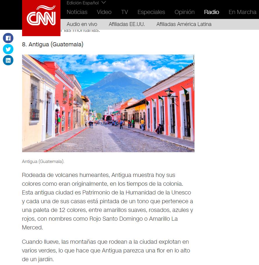 Antigua Guatemala es uno de los 25 lugares alegres y coloridos del mundo, según CNN