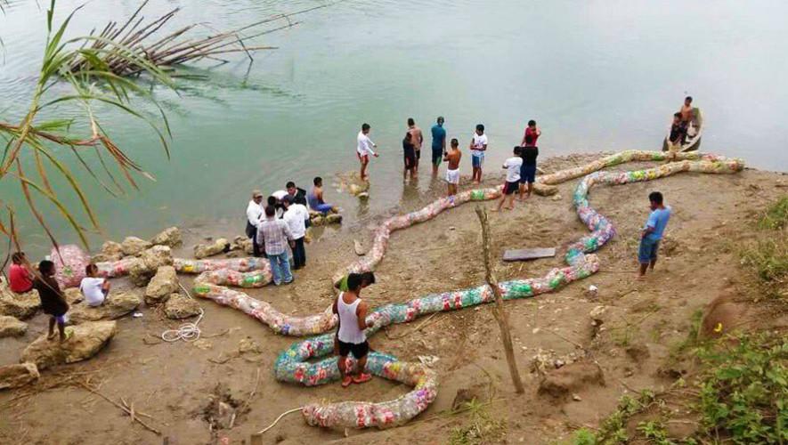 Biobarda: proyecto con material reciclado, busca eliminar la contaminación de los ríos