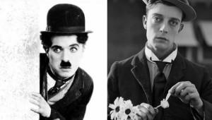 Charles Chaplin y Buster Keaton. (Foto: Influencity y Azkuna Zentroa)