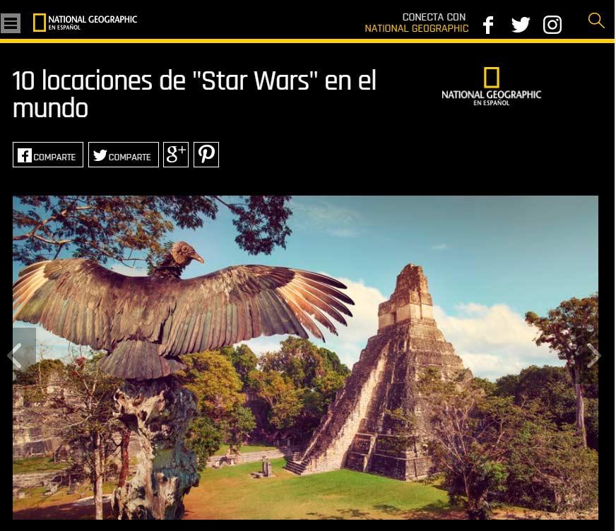 Guatemala se encuentra entre las 10 películas de Star Wars