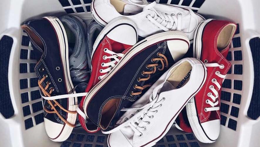 Lavanderia de zapatos en Guatemala
