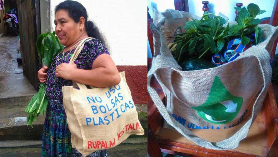 San Juan La Laguna promueve el uso de bolsas ecológicas