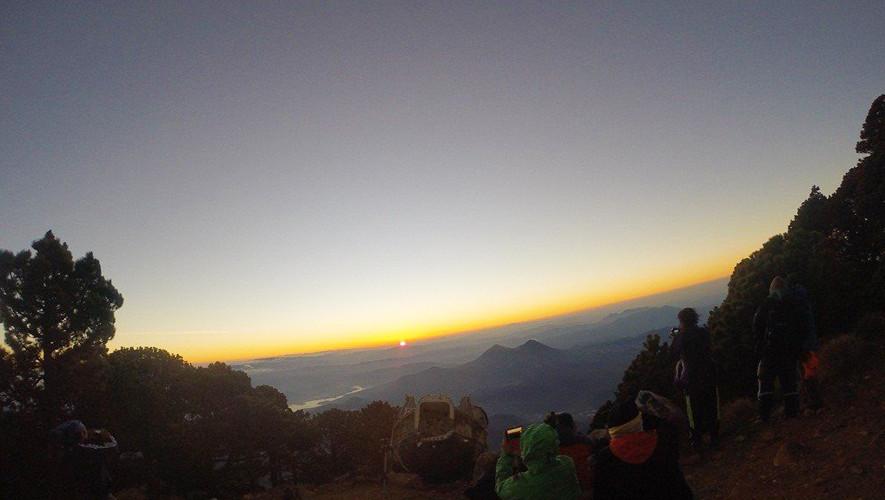 Ascenso nocturno al Volcán de Agua   Junio 2017