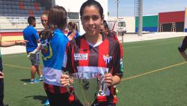 Ana Lucía Martínez obtuvo su primer título del fútbol español, anotando el gol que sentenció la victoria de su equipo. (Foto: Sporting de Huelva)