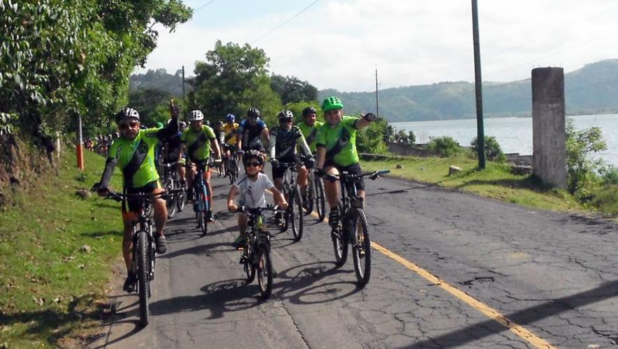 Tour en bicicleta por Paseo del lago Amatitlán   Julio 2017