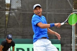 """El """"Pollo"""" está en busca de clasificarse a la final de dobles junto a su pareja de equipo de Estados Unidos. (Foto: Federación de Tenis de Campo Guatemala)"""