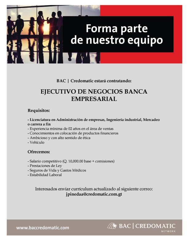 Bac empleo Guatemala