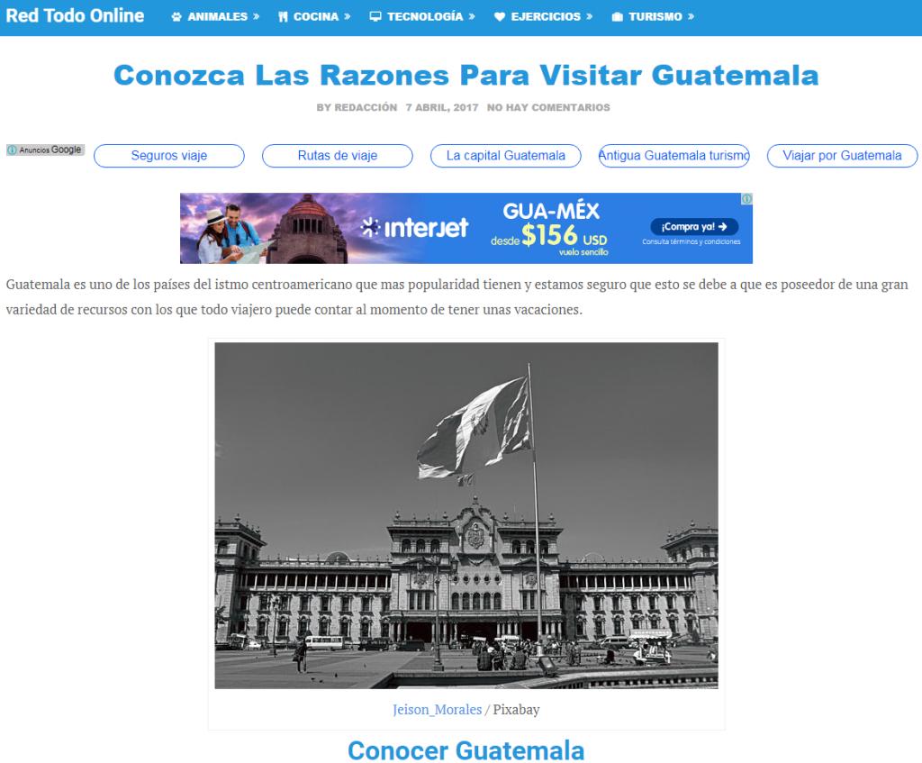 CapturConoce las razones para visitar Guatemala, según Red Todo Online