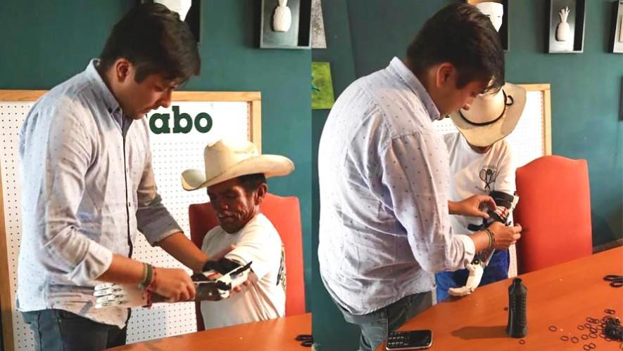 Don Tanislao, guatemalteco que pide limosna, recibe una prótesis