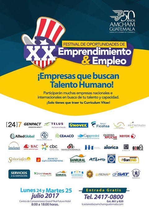 Festival de Empleo en la Ciudad de Guatemala, julio 2017
