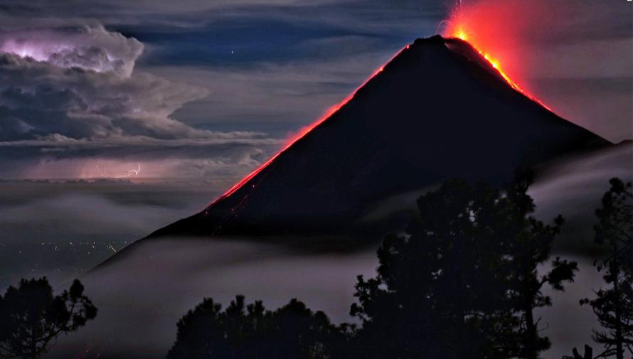Foto del Volcán de Fuego en Guatemala destaca en The Washington Post