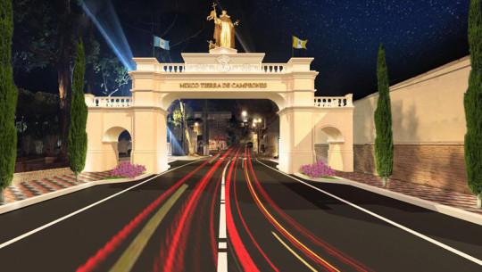Fotos de cómo será la atractiva entrada al municipio de Mixco 2017