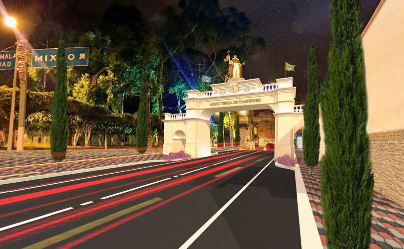 Fotos de cómo será la atractiva entrada al municipio de Mixco