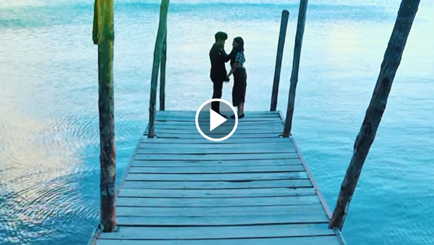 Guatemalteco graba video musical en lugares turísticos de Santiago Atitlán
