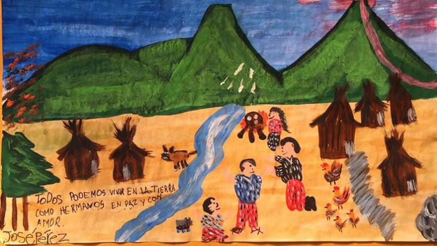 José Demetrio, niño guatemalteco, gana premio en concurso de dibujo de UNICEF