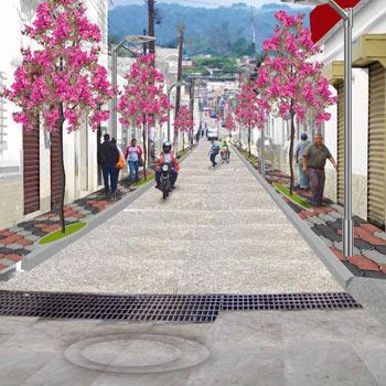 La Calle Real del municipio de Mixco