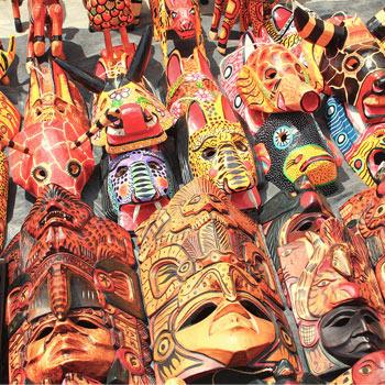 Máscaras de Antigua Guatemala