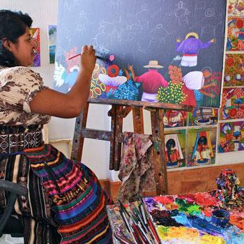 Pintores de San Juan La Laguna Guatemala