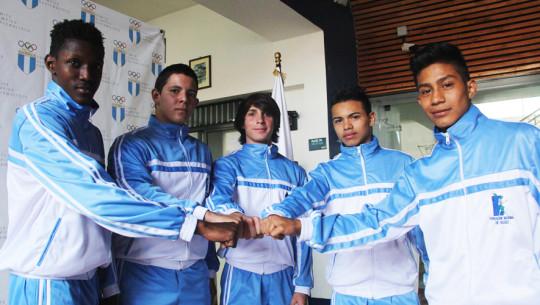 5 exponentes juveniles del boxeo guatemalteco se citarán en Ecuador. (Foto: CDAG)