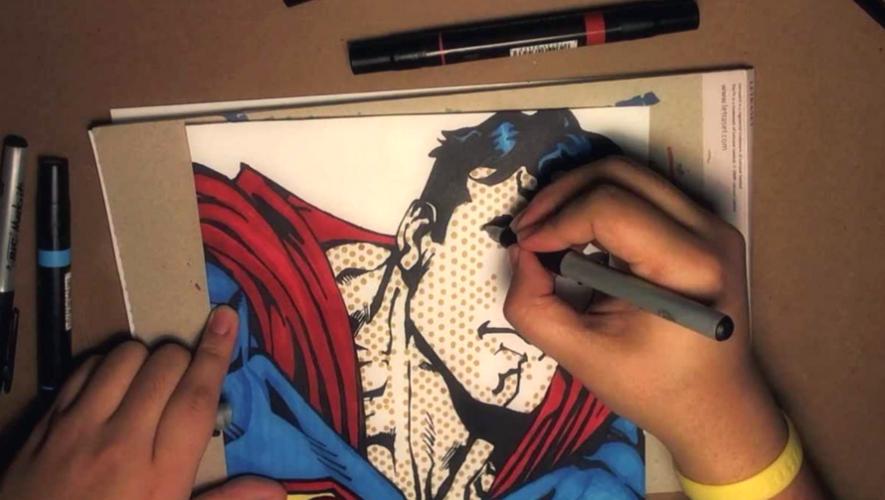 Taller de creación de cómics por Los Garabatti en CCE Guatemala  Agosto 2017