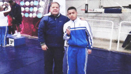 Pérez finalizó entre los 3 mejores luchadores de América a nivel cadetes. (Foto: CDAG)