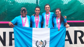 Guatemala consiguió por primera vez en la historia su ascenso al grupo I de la Fed Cup. (Foto: COGuatemalteco)