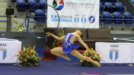 A pesar de no ganar ninguna medalla, el equipo de gimnasia rítmica cumplió con el objetivo de asegurar 2 plazas para las justas centroamericanas y del caribe del próximo año. (Foto: COGuatemalteco)