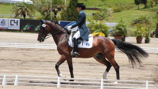 Schorpp  se quedó con el oro individual en la prueba de adiestramiento. (Foto: Prensa ANEG)