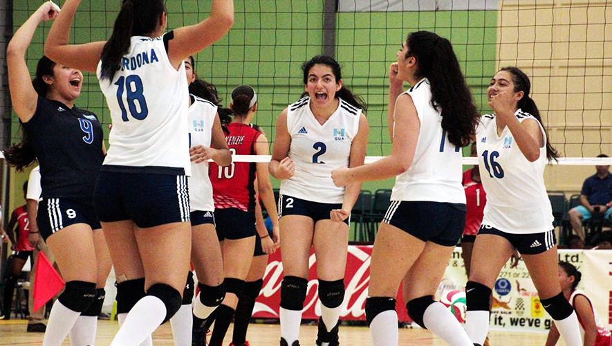Hasta el momento las jugadoras guatemaltecas solo ha perdido 1 partido. (Foto: Afecavol)