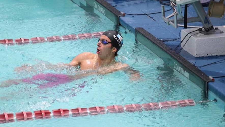 Martínez sigue confirmando que es el mejor nadador de Guatemala actualmente. (Foto: COGuatemalteco)