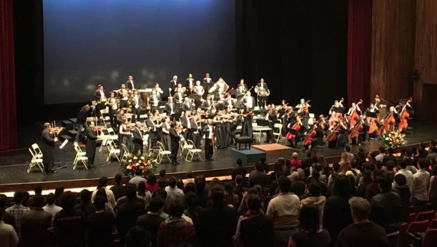 VI Concierto de la Orquesta Sinfónica Nacional de Guatemala   Julio 2017