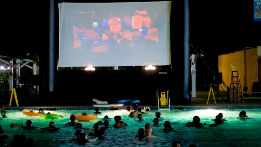 Proyección de película en playa termal de Spa Santa Teresita | Julio 2017