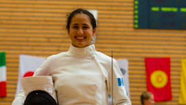 Rocío se ubicó en la octava posición y fue la mejor exponente de América en la gran final. (Foto: UIPM World)