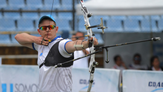Flossbach consiguió su mejor resultado en lo que va de su carrera, derrotando a un campeón de América y atleta olímpico en la final de arco recurvo. (Foto: COGuatemalteco)