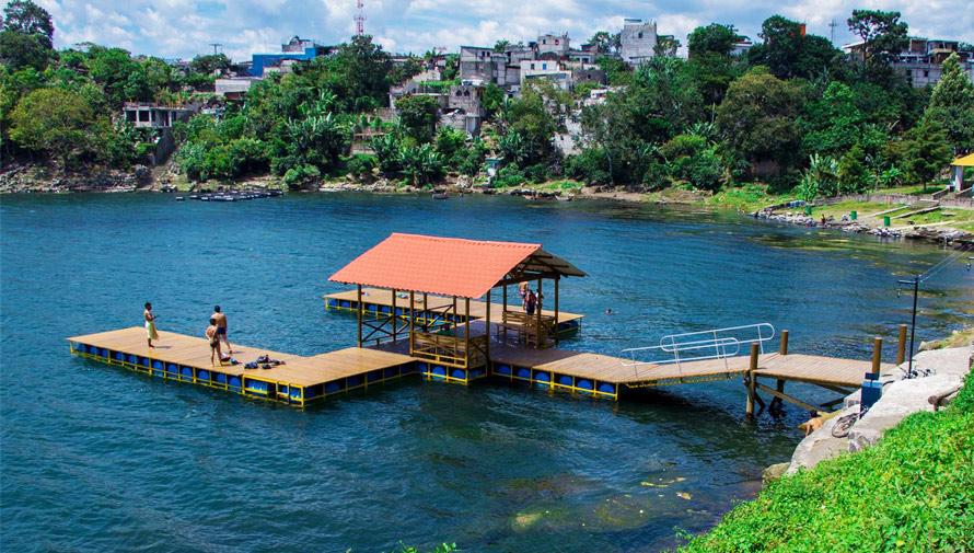 Conoce el nuevo muelle en la playa Xechivoy en Santiago Atitlán
