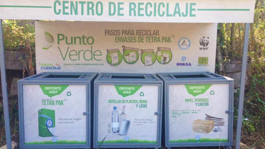 Estaciones de reciclaje al aire libre en los municipios de Guatemala