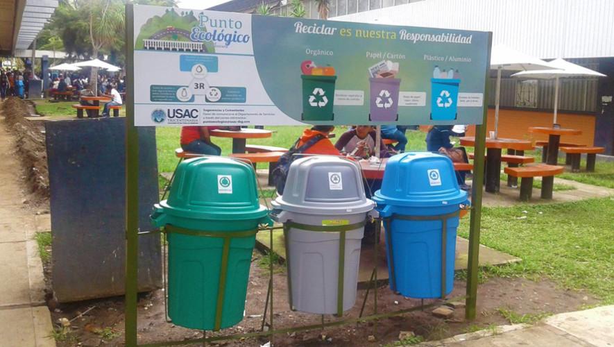 Instalan 28 puntos ecológicos en la Universidad de San Carlos