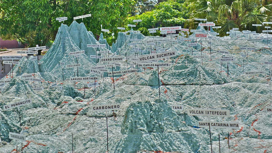 Mapa en relieve ciudad de guatemala lugares tur sticos for Que represente 500 mo