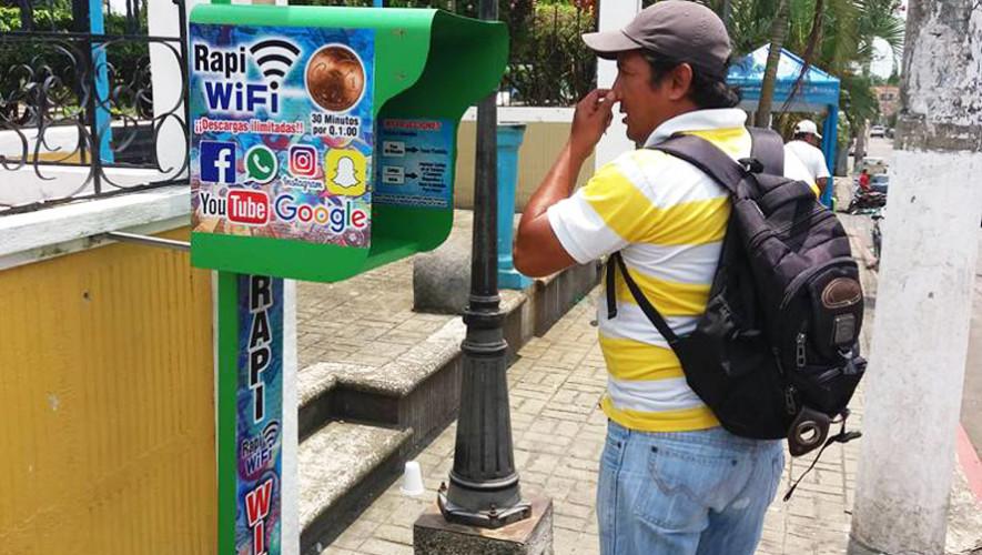 Máquina que da 30 minutos de Internet por Q1.00 en Retalhuleu
