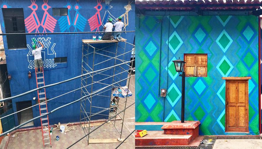 Pintando Santa Catarina Palopó proyecto inspirado en los huipiles