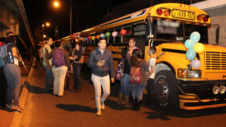 Rutas del transporte nocturno gratuito para estudiantes de la USAC