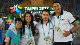 Kevin Ávila y Thelma Fuentes buscarán poner en lo más alto el nombre de Guatemala. (Foto: Javier León/Estudiantes Guatemaltecos en Taiwán)