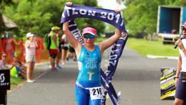 La quetzalteca Schoenfeld sigue dominando en la rama femenina del triatlón.(Foto: CDAG)