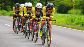 Los ciclistas Quetzaltenango ha dominado la mayoría de las pruebas de la temporada 2017, incluyendo la prueba de contrarreloj por equipos. (Foto: FGC)