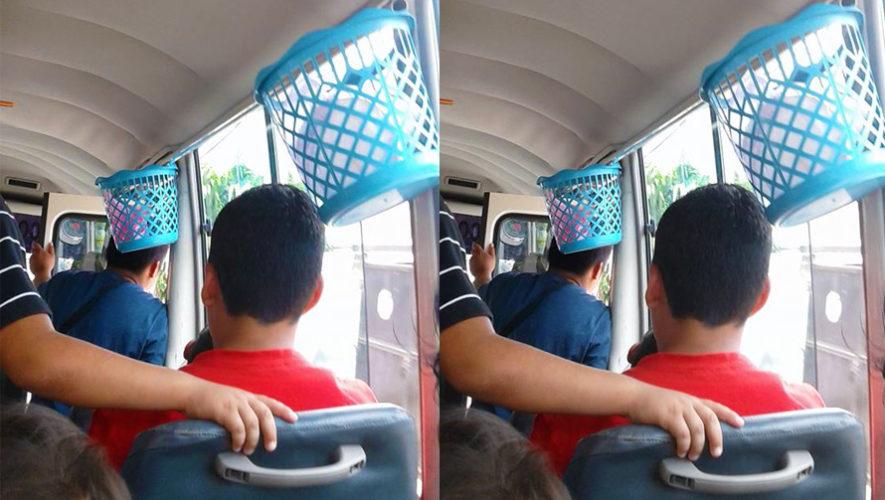 Colocan botes para basura dentro de microbuses de San Juan Chamelco a Cobán